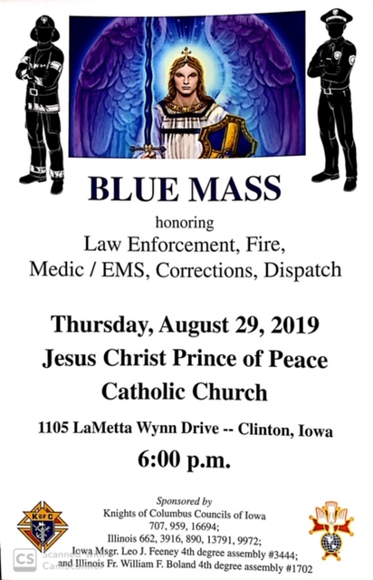 Blue Mass Poster event 8 29 19