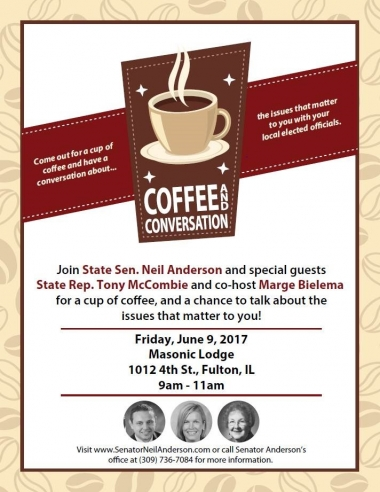 June 9 Coffee & Conversation with Senator Neil Anderson-