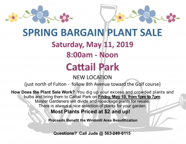 The 2019 Annual Fulton Spring Plant Sale